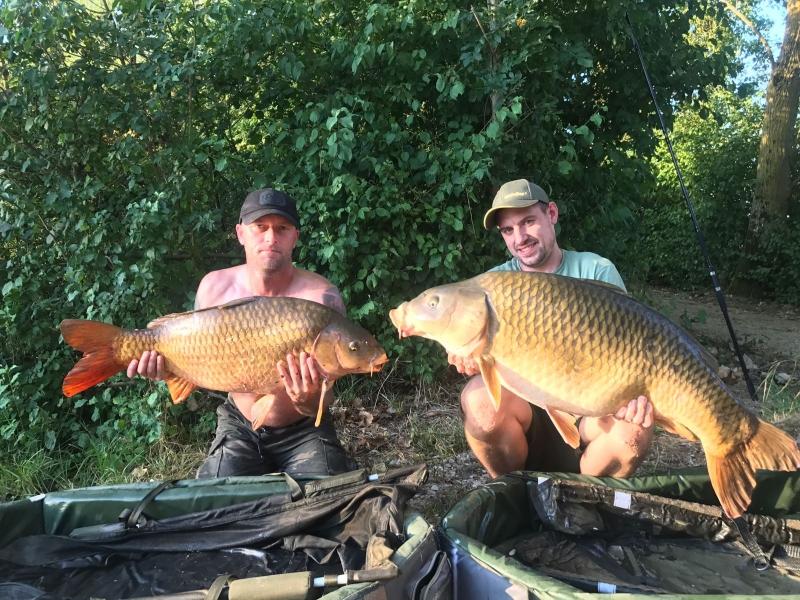 Mick Bacon 30lb and Ben Warren 42lb