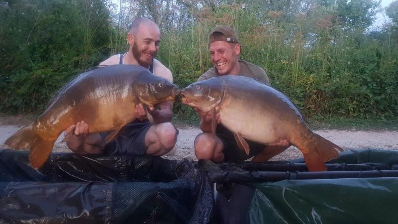 Craig Barnes 38lb and Glynn Brown 37lb