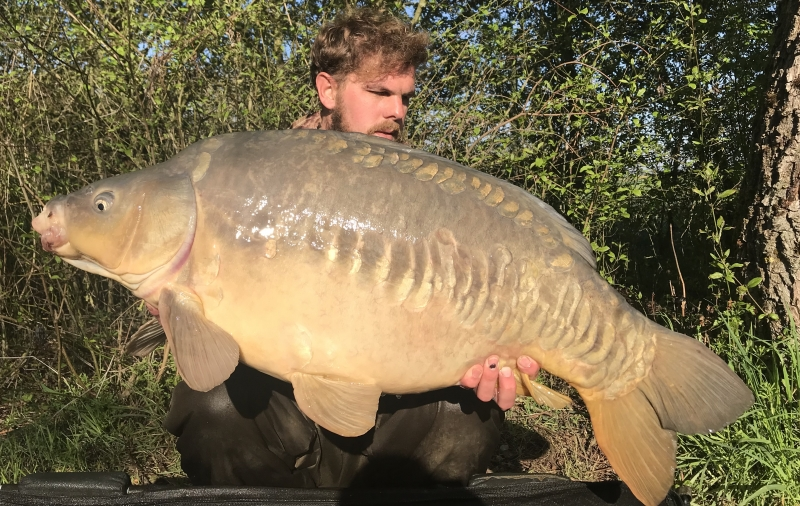Billy Driver 41lb mirror