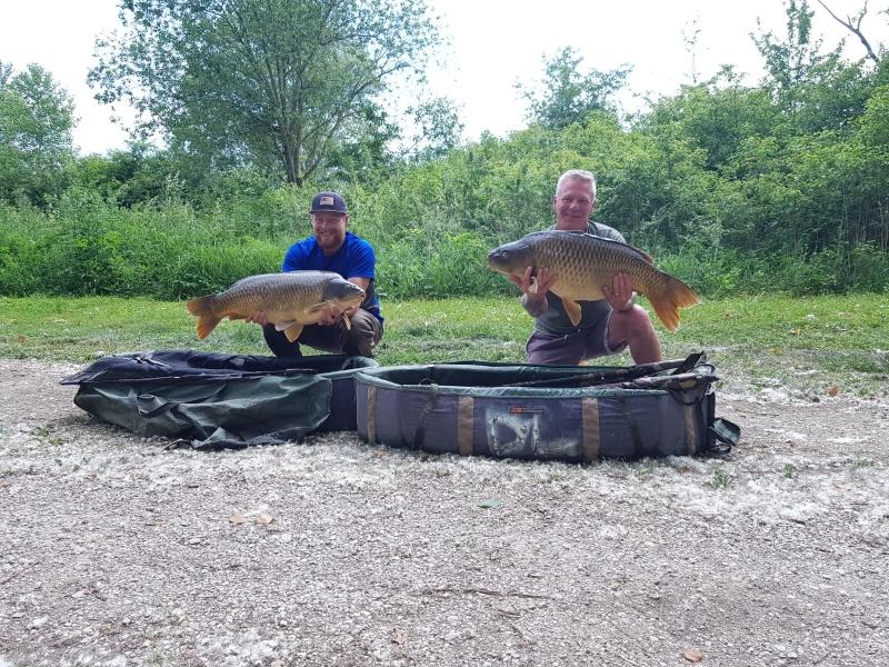 Dean and Tony Bridgart 32lb and 22lb 5oz
