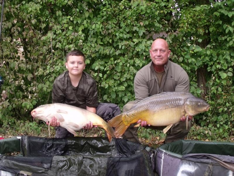 Alfie and Grandad Gary Davies 31lb and 32lb